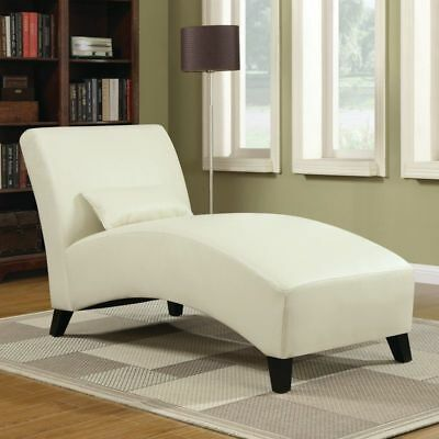 Modern Leather Chaise Lounge Home Sofa Cream Chair Living Room Seater Furniture