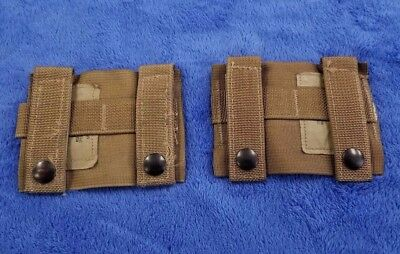 """""""NEW"""" (Set-2) Molle K-BAR ADAPTERS, Coyote Tan, Genuine US Military, 4135CB"""