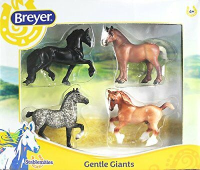 Breyer Stablemates Gentle Giants Four Horse Set NEW, Free Shipping
