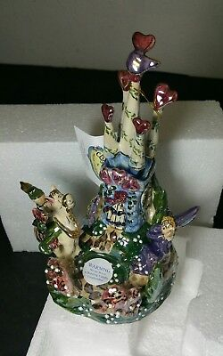 Musical Box Castle Tealight Princess Prince Blue Sky Clayworks Heather Goldminc