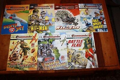 Job Lot Of 7 Commando Comics From The Silver Collection In Very Good Condition
