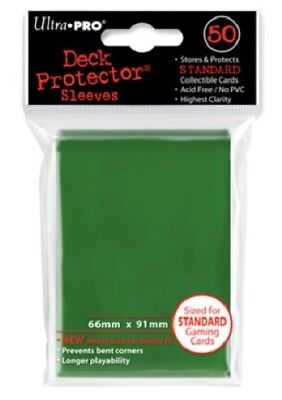 Ultra Pro 50 pochettes Deck Protector Sleeves Vert cartes format standard 826710