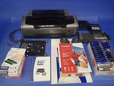 Epson Stylus Photo Printer R1800 w/ Extra Ink and Paper