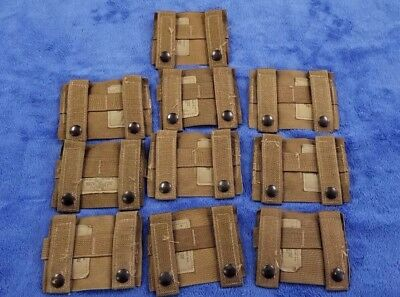 """NEW"" (Set-10) Molle K-BAR ADAPTERS, Coyote Tan, Genuine US Military, 4135CB"