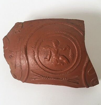 Ancient Roman Samian Ware Terra Sigillata fragment estate antique