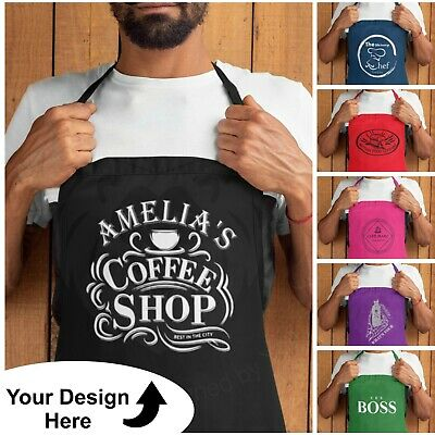 Personalised Custom Printed Kitchen Chefs Apron Overalls Funny Cooking Novelty