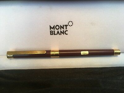 MONTBLANC Noblesse Oblige Burgundy Fountain Pen, Solid 18K Gold F Nib FREE SHIP!