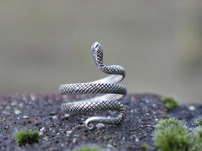 Adjustable miao silver snake ring Unique Handmade Xmas gift for her and him
