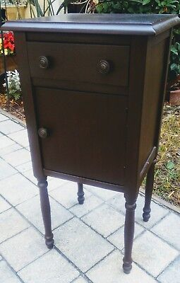 Antique mahogany nightstand end table cabinet primitive federal vintage