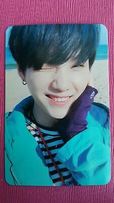 BTS SUGA Official PHOTOCARD 2nd Repackage Album YOU NEVER WALK ALONE YOON KI 슈가
