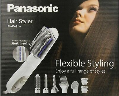 PANASONIC HAIR MULTI Styler Brush With 8 Attachments FOR 220