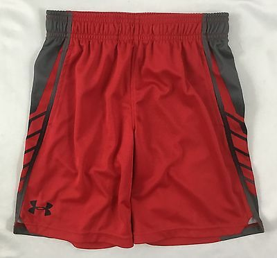 Under Armour Boys Athletic Shorts Heat Gear Blaze Orange 27B55623 YOUTH 7