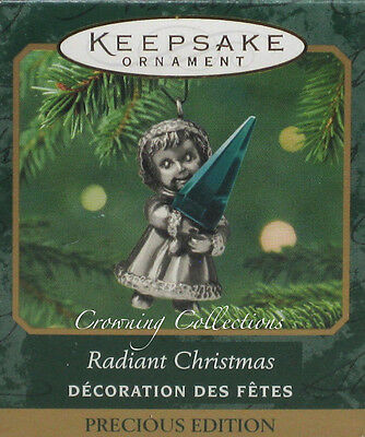 2001 Hallmark Radiant Christmas Precious Edition Miniature Keepsake Ornament NIB