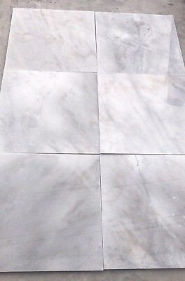Polished White Marble Tiles 600 x 600 x 18mm $60 Per m2