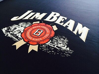 ENGLISH Hainsworth Jim Beam Black Pool Billiard Table Cloth Felt Full kit 8ft