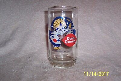 "RARE & Vintage DAIRY QUEEN Little Dutch Girl 5 1/2"" Promo Drinking Glass"