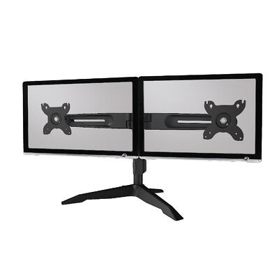 "Dual Monitor Stand Up to 24"" AAVARA Freestanding VESA 100x100 75x75 AV-DS200 f36"