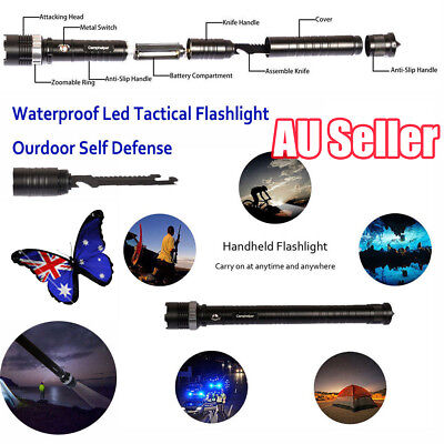 Waterproof Led Zoomable Flashlight For Camping Cycling Outdoor Hunting Knife HOT
