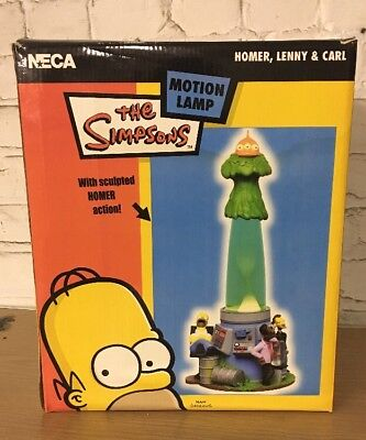 "2003 The SIMPSONS NECA ""LAVA MOTION LAMP"" NEW IN BOX Homer Lenny Carl"