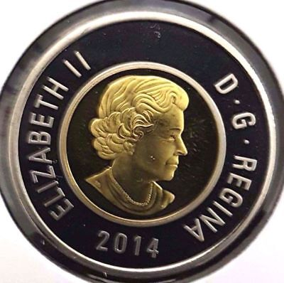 2014 Canada $2 Toonie Nickel Plated Proof - Deep Cameo Uncirculated from set
