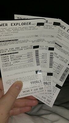 3 Blackpool Tower Explorer Tickets for THE EYE, DUNGEON / BALLROOM/ JUNGLE JIMS