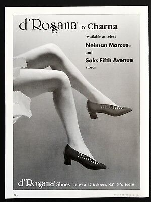 1992 Vintage Print Ad D'Rosana By Charna Woman's Foot Fashion Bare Legs