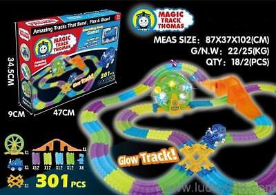 Magic Tracks thomas the tank engine Set - 301 Piece Glow in the Dark + Train