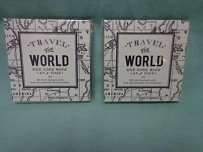 Travel the World bookplates, assorted sizes, 2 sets of 80, self-adhesive, NEW