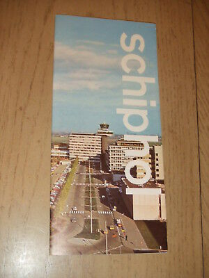 RARE 1970s Schiphol Amsterdam Netherlands Airport Guide Brochure History Maps