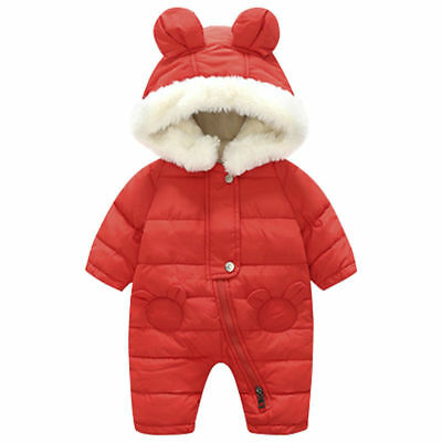 BABY Toddler Baby Boys Girls outerwear Hooded Winter Warm Jacket Down Snowsuit