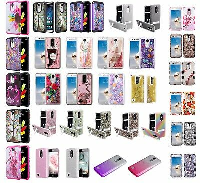LG Risio 2 Slim Hybrid Hard Case Shockproof Phone Cover Cell Phone Case Cricket