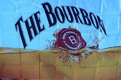 """Jim Beam Flag """"the Bourbon"""" With Logo New Still In Factory Packaging"""