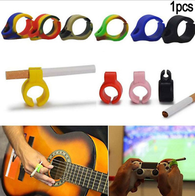 Creative Portable Silicone Cigarette Holder Ring for Regular Smoking Accessories
