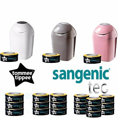 Tommee Tippee Sangenic Tec Nappy Disposal Tub Nappy Bins and Refills