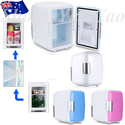 Portable Thermoelectric Mini Bar Fridge Travel Refrigerator Cooler Freezer 4L