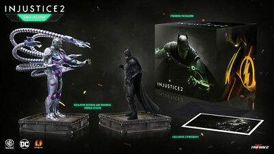 FREE POST IN AUS! BATMAN VERSUS BRAINIAC COLLECTOR STATUES FROM INJUSTICE 2