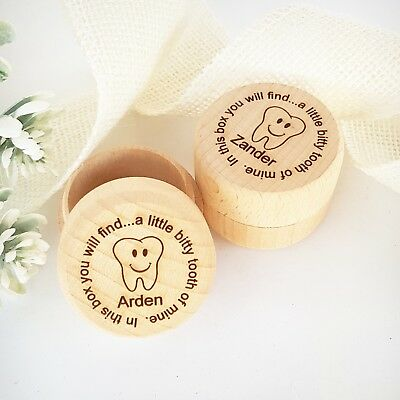 Children's Wooden Engraved Tooth Fairy Box