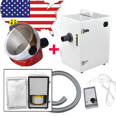 Portable Dental Digital Single-Row Dust Collector Vacuum Cleaner 370W + Suction