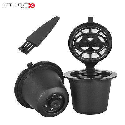 2PCS Refillable Reusable Coffee Capsules Pod Filter for Nespresso Machines