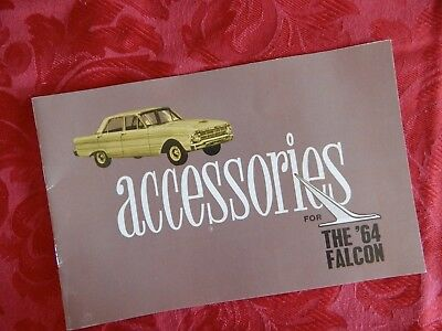 Ford Falcon '64 Xm Accessories Booklet ,excellent Htf Reprint Of Rare Brochure.