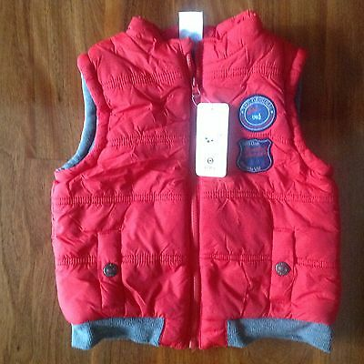 EUC - TARGET boys red puffa vest (size 18-24mths) RRP $18 - 66% off