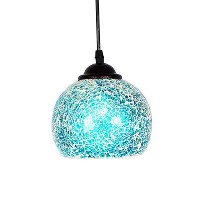 Vintage Hanging Light Mosaic Pendant Ceiling Lampshade Stained Glass 8#