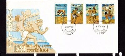 Tokelau 1981 Sports Issue  Set On Fdc Lot A