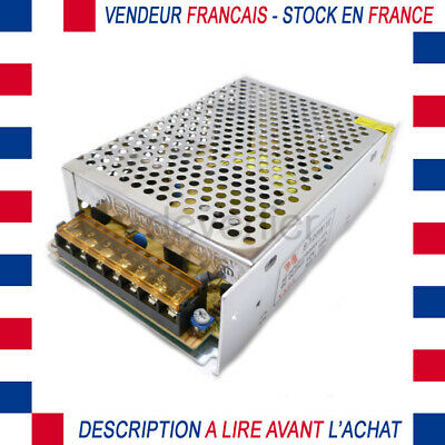 Alimentation Regulee Transformateur 12Vdc 10A 120W Ruban Led 2835 3528 5050 5630