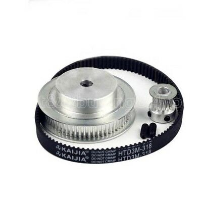 3PCS HTD3M 60T 15T Timing Pulleys + Timing Belt Width 10mm Reduction Ratio 1:4