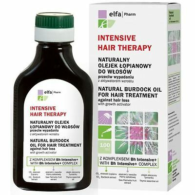 Elfa Pharm Intensive Hair Therapy Natural Burdock Oil for Hair Treatment 100ml
