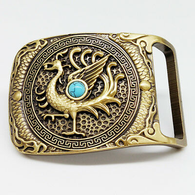 Mens Pin Belt Buckles Solid copper Western Style for Belt width 3.7-4.0cm