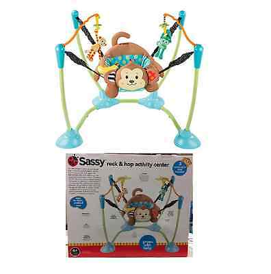 Sassy Rock N Hop Baby Jumper Jumperoo Bouncer Jump Activity Exerciser Toy Seat