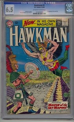 Hawkman #1 Cgc 6.5 1St Hawkman In Own Title