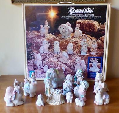 1995 Dreamsicles 15 Pc NATIVITY COLLECTION Kristin Hayes Signed Excellent Cond